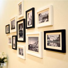 Tout en bois massif photos aux murs 11 case photo murale de mode cadre photo photo de combinaison cadre 11qy821 dans Châssis de Maison & Jardin sur AliExpress.com   Alibaba Group