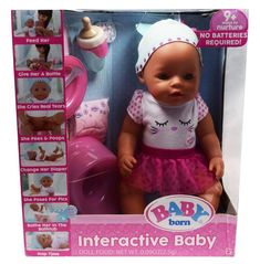 New Baby Born Interactive Doll With Green Eyes And 9 Activities Babyborn Interactive Baby Dolls New Baby Products Interactive Baby