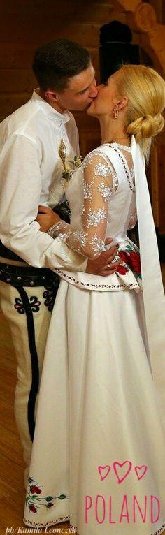 Polish Highland Wedding People Of The World, My People, Polish Wedding, Formal Dresses, Wedding Dresses, Poland, Wedding Stuff, All Things, Folk