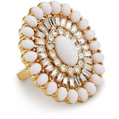 kate spade new york Capri Garden Ring ($128) found on Polyvore