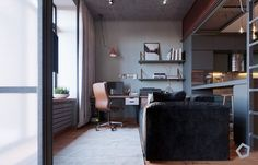 Chic Small Studio Apartment Use a Space Splendidly To Make It Looks Spacious