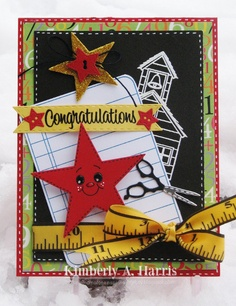 Scrapin Mom Of One Inspiring Little Boy: Peachy Keen Challenge 13::9 Just Cards:: Oh My stars