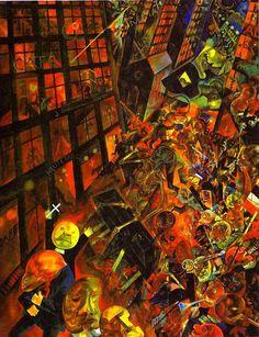 George Grosz, The Funeral - dedicated to Oskar Panizza - Staatsgalerie Stuttgart Franz Marc, Norman Rockwell, Art Dégénéré, George Grosz, New Objectivity, Art Ancien, Art Abstrait, Art Moderne, Art History