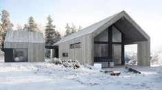 Midwest Modern Architecture in Michigan - Haus Der Architektur Modern Barn House, Modern Garage, Residential Architecture, Modern Architecture, Online Architecture, Barn Renovation, Small House Design, House Roof, House In The Woods