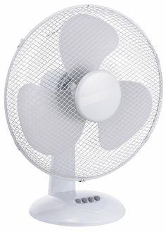 #TISCHVENTILATOR Ø40cm Weiß (45 Watt, leiser Betrieb, 180° Rotation, 3 Stufen) #ventilator #hitze #sommer