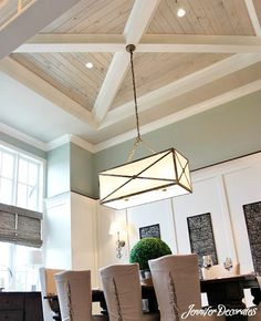 Wood Ceiling Ideas from Jennifer Decorates.com