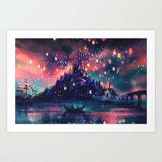 The+Lights+Art+Print+by+Alice+X.+Zhang+-+$16.00