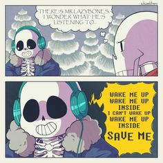 sans and papyrus - wake me up
