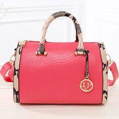 Bolsos Mujer 2015 Fashion Serpentine Leather Bags Handbags Women