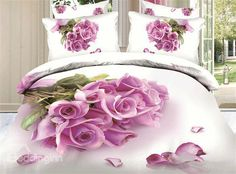 New Arrival Top Class Skincare Bunch of Pink Roses 3D Print 4 Piece Bedding Sets #bedding #bedroom #decor