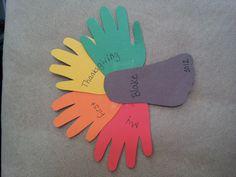 Blake's handprint/footprint turkey