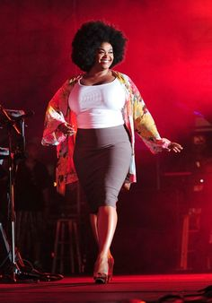 Jill Scott at the Jazz in the Gardens Festival in Miami. Hell yes!