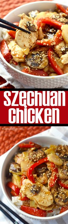 This Szechuan Chicken is better than take-out!! Change up the veggies and the meat and make it tons of different ways! It will become a favorite at your house!