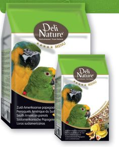 Deli Nature 5* (Five Star) South American Parrots is an extremely varied and balanced seed mixture, containing more than 30 ingredients. The mixture meets the nutritional demands of South American parrots, such as amazons and macaws.  The new five star (5*) menu range combines a rich variety of top quality sun-ripened seeds and grains, together with high quality proteins, vegetal material, herbs, legumes, and fruits from the natural living environment of the particular bird.
