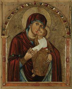 The Eleusa Virgin, 17th c., Hłomcza