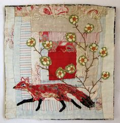 Mandy Pattullo | Hand Embellished Recycled Vintage Quilt http://www.mandypattullo.co.uk/