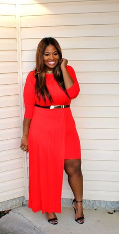 Red #bbw #curvy #plussize #thick #beautiful #sexy #fashionista #style
