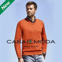 Vyberte si z pánskych svetrov od poprednej nemeckej značky CASAMODA. Všetky svetre sú vyrobené zo 100 % PIMA bavlny a sú v žiarivých farbách, aby ste vynikli.