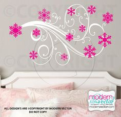 Frozen Inspired Vinyl Wall Decal Design Snowflake by ModernVector