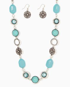charming charlie   Gaia Goddess Necklace Set   UPC: 400000040097 #charmingcharlie