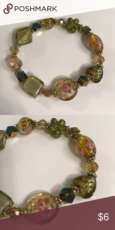 Pretty Green and Pink Bracelet These have been only worn a few times, no damage. They are in great condition! Let me know if you have any questions. Premier Designs Jewelry Bracelets