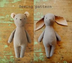 An easy-to-follow sewing pattern (downloadable PDF) for making a bunny or bear soft toy - designed by Margeaux Davis from Willowynn. This vintage-style bunny doll or bear soft toy is the perfect companion for a little person.