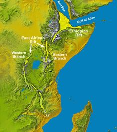 East africa Rift and Ethiopian Rift map