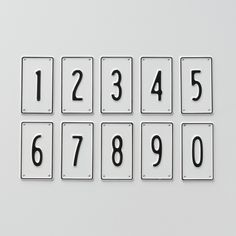 Black & White Number Signs