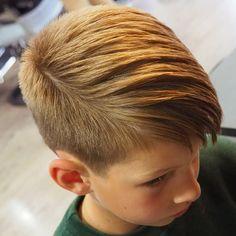 Me gusta el color y los clarito Faux Hawk Fade Haircut For Boys - Best Little Boy Haircuts: Cute Toddler Boy Hairstyles - Short, Medium, Long Haircuts and Styles For Kids Boy Haircuts Short, Toddler Haircuts, Little Boy Haircuts, Boy Hairstyles, Haircuts For Men, Mens Hair Trends, Hair Art, Men's Hair, Long Hair Cuts