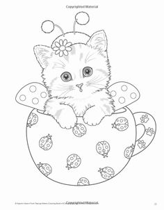 Cats and Kittens Coloring Books Pin On Coloring Pages Free Adult Coloring Pages, Cat Coloring Page, Flower Coloring Pages, Animal Coloring Pages, Coloring Pages To Print, Coloring Book Pages, Coloring Pages For Kids, Coloring Sheets, Coloring Stuff