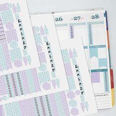 April Vintage Wallpaper Coordinating Planner Sticker Half Kit // Erin Condren Colors