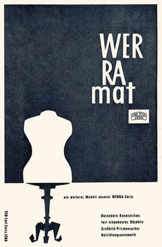 Kamera WERRAmat, CARL ZEISS JENA, East German Ad, DDR Werbung, 1961