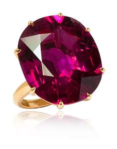Rubelite Cocktail ring from the Stephen Russell Collection.  Photo c/o Stephen Russell
