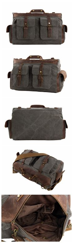 Canvas Leather Travel Bag Briefcase Messenger Bag Shoulder Bag Dufulle Bag