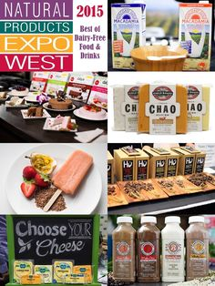 23 Top Dairy-Free Expo West 2015 Food Finds - includes milks, cheeses, frozen desserts, chocolate, even cheesecake! Most are vegan and gluten-free, while many are soy-free and nut-free, too!