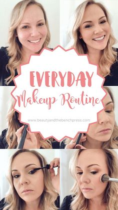 A tutorial of my simple and easy everyday makeup routine. A natural look that gets me out the door quickly on busy mornings while still looking pulled together. #makeuproutine #naturallook