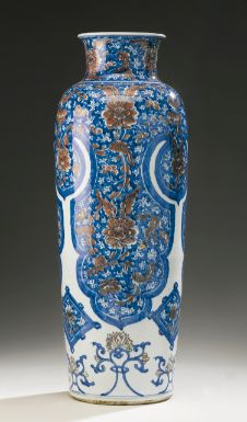 A RARE UNDERGLAZE-BLUE AND COPPER-RED SLEEVE VASE QING DYNASTY, KANGXI PERIOD - Sotheby's