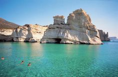 milos, greece. can i please go swimming in that water now?!