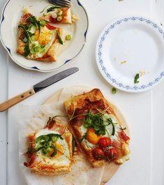 Supernopeat aamiaispiirakat ovat näyttäviä ja helppoja tehdä. Sweet And Salty, Something Sweet, Bruschetta, Vegetable Pizza, Cooking, Breakfast, Ethnic Recipes, Food, Zara