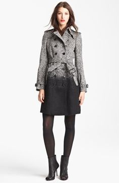 Burberry London Dégradé Tweed Coat @Nordstrom