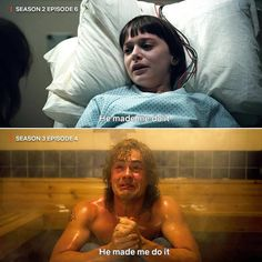 Stranger Things Will and Billy Parallel, He Made Me Do It, Noah Schnapp, Dacre Montgomery, Season 1 3 Stranger Things Theories, Stranger Things Actors, Stranger Things Quote, Stranger Things Have Happened, Stranger Things Aesthetic, Stranger Things Season, Stranger Things Netflix, Look Star, Dacre Montgomery