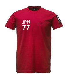 INT T-SHIRT RED    From an agressive expansion in distribution, projects and our with test team, we have made a collection to honor our new members; Sail Racing International! This tee in 100% cotton jersey with embroideries, prints and applications.