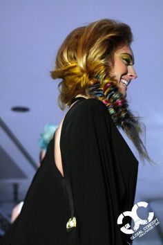 add splashes of color into a fishtail braid for the perfect music festival look. #colors #hair #funcolors #fishtail #braid #jbeverlyhills #texture #musicfestival #festivalhair