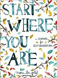 I really love the Start Where You Are: A Journal for Self-Exploration, because it assists the writer by giving us prompts and quotes for inspiration. It's not just a journal full of blank pages. It's full of little nudges to get you writing with purpose! Journal Prompts, Writing Prompts, Art Journals, Bullet Journals, Gratitude Journals, Writing Journals, Diary Writing, Visual Journals, Study Journal