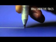 Conductive Ink Pen Lets You Draw Custom Working Circuits - Instead of wires, soldering, and a lot of specialized knowledge, you can draw circuits on paper with the non-toxic, water-based ink. Circuit Scribe sells modules that you can snap onto your creati