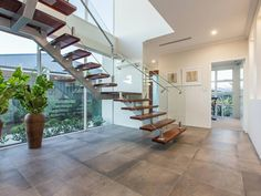 Large open window with open stairs