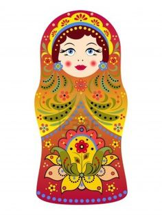 illustration of  russian doll matryoshka on white background Stock Photo - 14873055