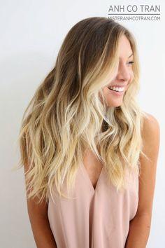 PERFECT BEACHY HAIR AT RAMIREZ|TRAN SALON. Cut/Style: Anh Co Tran. Appointment inquiries please call Ramirez|Tran Salon in Beverly Hills: 310.724.8167