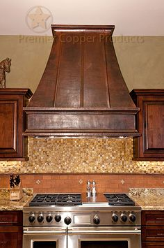 "Premier Copper Products is proud to offer Copper Range Hoods.  This model is one of our stocked models available in 36"" and 48"" upon demand or any custom size you might desire."