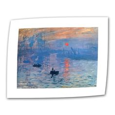 Sunrise by Claude Monet Painting Print on Rolled Canvas